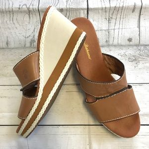 Tommy Bahama women's Wedges leather upper sz:10